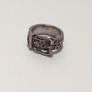 Jewelry - BOGO FREE! Silver tone belt ring size 7.5